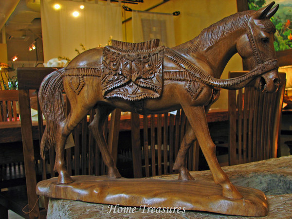 Wooden carved horse