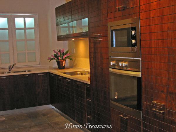 Teak kitchen cabinet