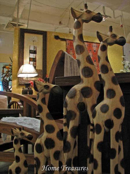 wooden giraffes