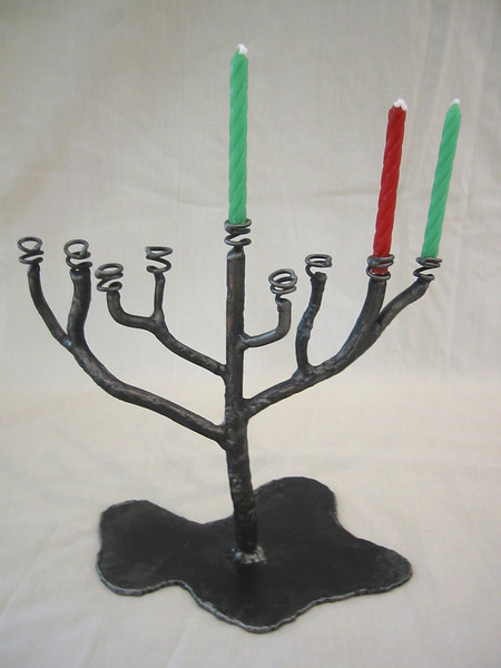 Menorah Candle Holder- with candles