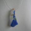 Copper banded blue-white pendant
