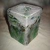 "Votive Pillar Light- unlit<br /> (rectangular design)<br /> 6"" x 4"" x 4""<br /> recycled glass"