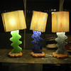 """A Wire Runs Through It""<br /> Table Lamp- grouping in varying colors"