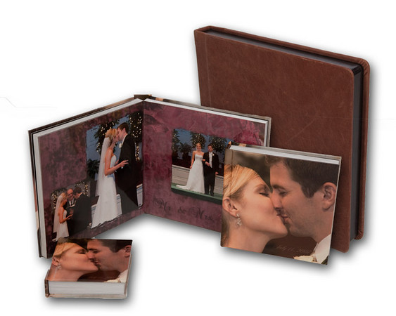 Wedding albums or story book albums make great family heirloom that can be passed down for generations to come.  We offer varies styles to choose from.  Album prices vary a cording to number of pages, book style and cover options.<br /> Prices start at $800.00 identical additional books 1/2 price.