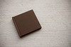 5x5 Press Printed Photo Book with Chocolate Brown fabric cover