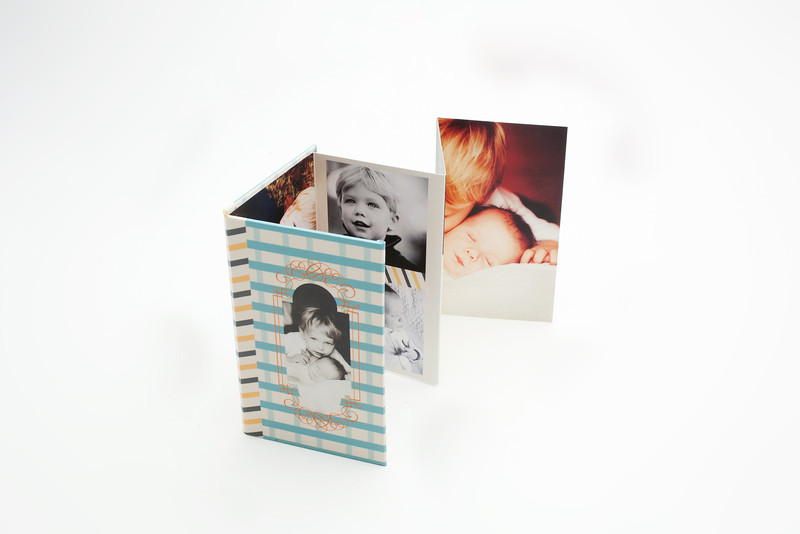 Accordion Books:  With just seven customizable panels, Accordion Books are a simple, but unique presentation to showcase your portraits.