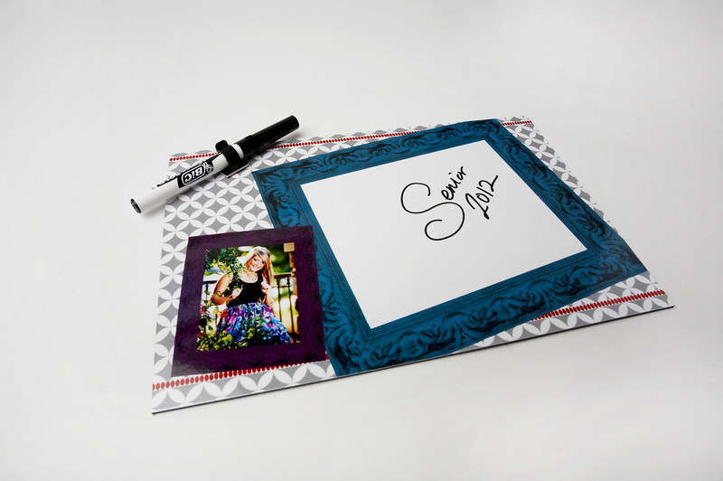 Dry Erase Boards:  Both fun and functional!  Dry Erase Boards include an image from your session with plenty of space in the design for important notes and to do lists.