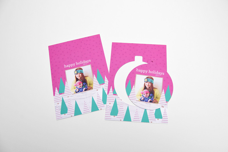 Luxe Pop Card:  Give friends and family a greeting card or invitation that stands out with the unique and fun Luxe Pop Card. The press card that serves double duty, the Luxe Pop Card offers a perforated Circle or Ornate shape to be popped out upon receipt for an instant ornament or keepsake.