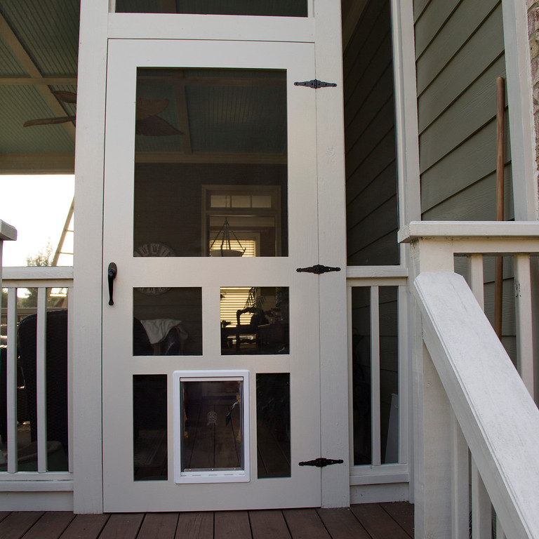 Screen Doors with Dog Entrance