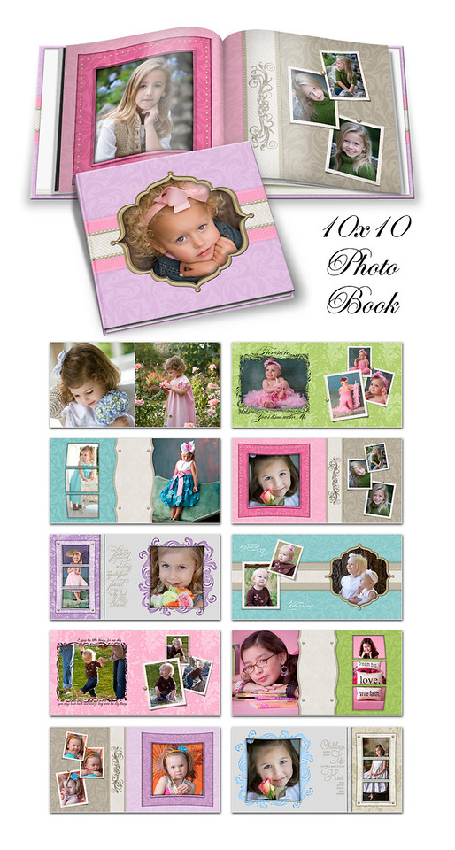 8x8 10x10 12x12 Pretty Pastel Book