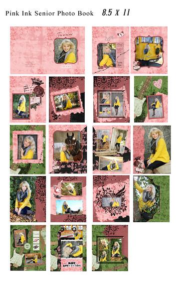 8 5x11 Pink Ink Book