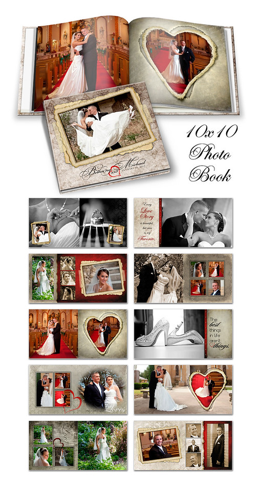 8x8 10x10 12x12 Love Letters Book
