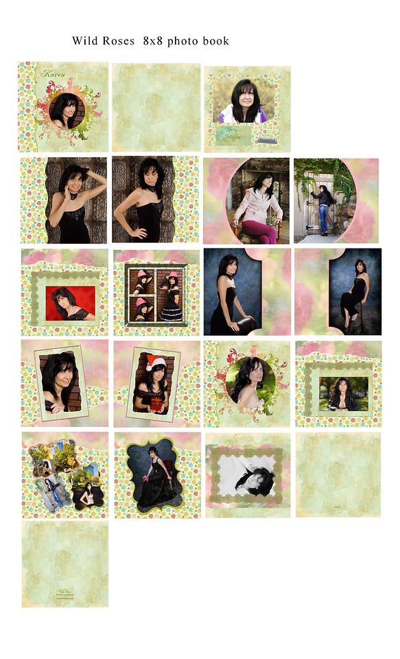 8x8 10x10 12x12 Wild Roses Book