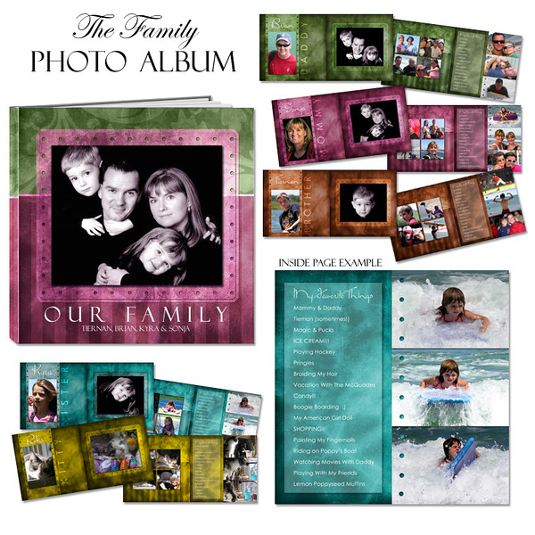 8x8 10x10 12x12 Our Family Book