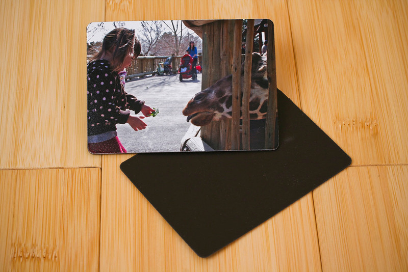 Photo Magnet:  Have a bare refrigerator or filing cabinet at the office?  These will stick to anything metal.  Prints measures 2.44x3.44.