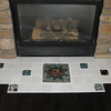 Fireplace accent tiles