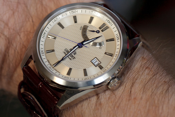 The Orient FFD0F004W on the wrist