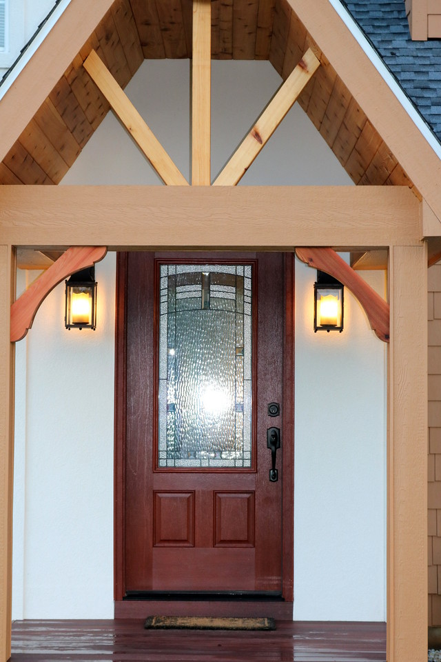 Front Porch with Wood Brace 65T2
