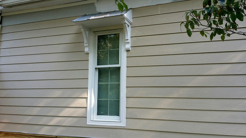 Awning over Windows with Wood Bracket 04T5
