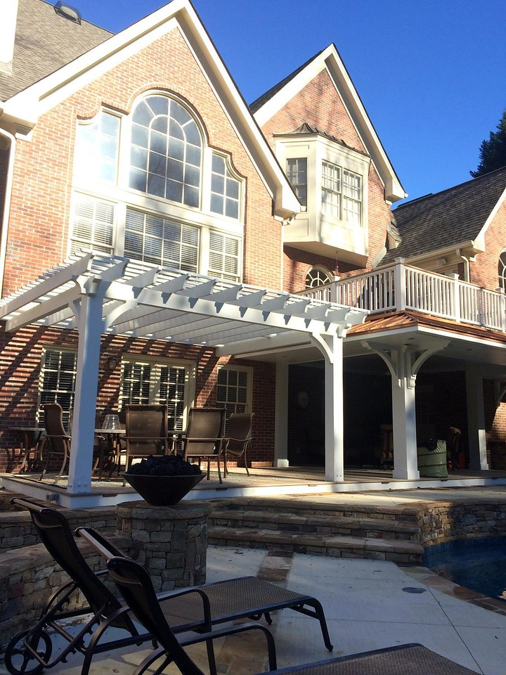 Wooden Bracket 10T19, Wood Brace 71T1 and Custom Pergola