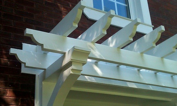 Front Porch Pergola with Wooden Bracket 02T4