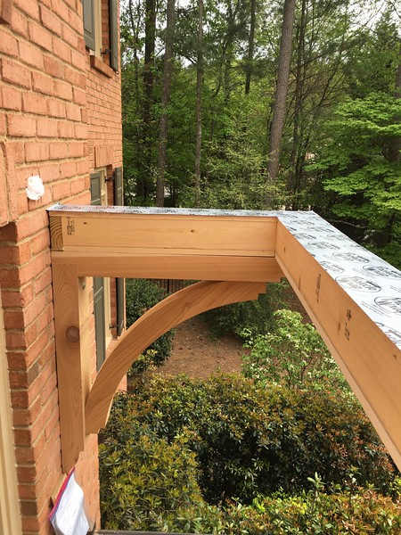 Front Porch with Wood Bracket 14T16 Smooth Finish