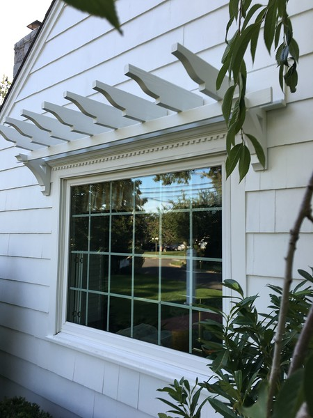 Over window pergola with Wood Bracket 04T8