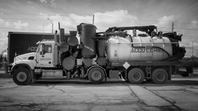 Industrial chemicals transport truck