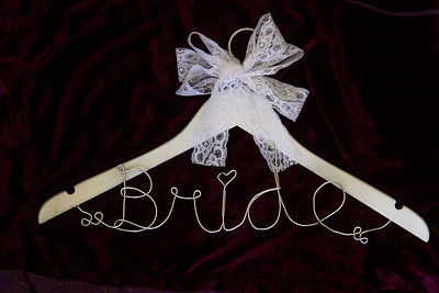 Wedding Party Collection.  Custom wording and hanger color selection.