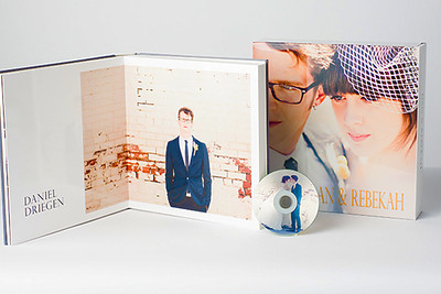 """Cherish You Always"" Album Package:  Comes with customized flush mount album, DVD, and box cover"