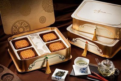 Moon cake packages at Wynn Macau