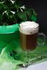Shamrocks and Irish coffee dark vertical