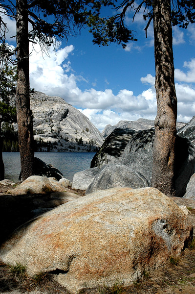 clouds over tenaya lake