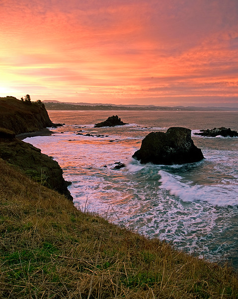 yaquina bay sunrise