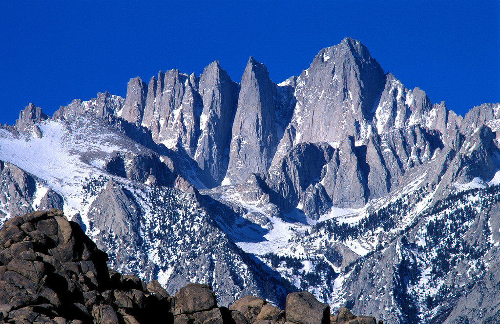 early light at mt. whitney
