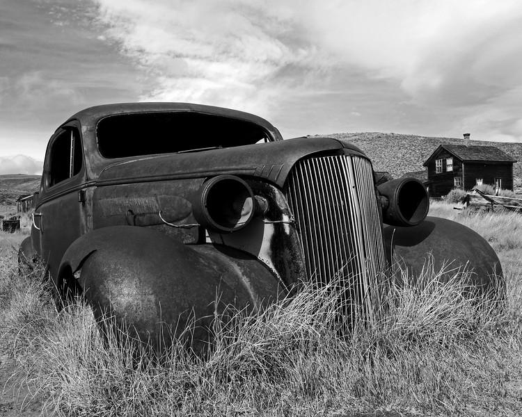 Jalopy Black & White, Bodie, CA