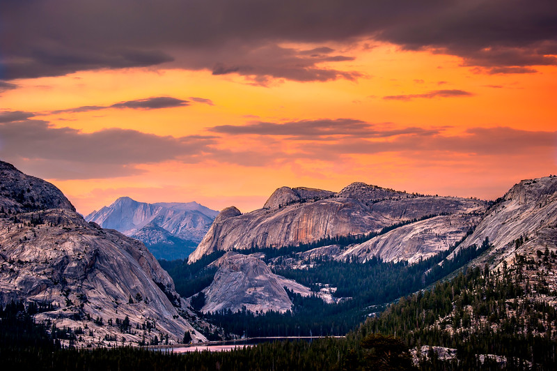 tenaya lake golden hour