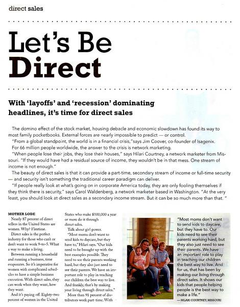 ISAGENIX  Direct Sales Marketing