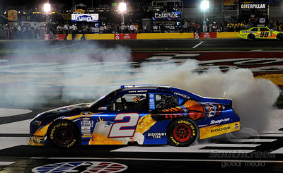 29 May 2010: Kurt Busch celebrates a victory at Charlotte Motor Speedway in Concord, North Carolina. Mandatory Credit: Marty Bingham / Southcreek Global
