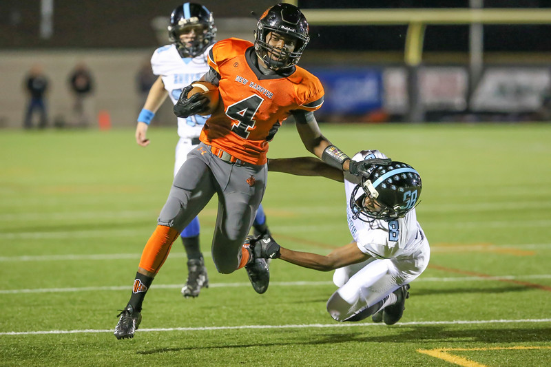 New Hanover's Jyree Taylor turns the corner for a touchdown against  South Brunswick High at Legion Stadium in Wilmington, N.C. Friday,November 4, 2016. Alan Morris / Star News