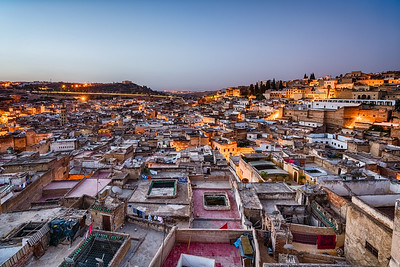 Fes blue hour