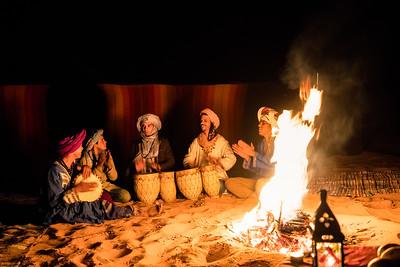 Sahara campfire