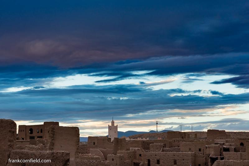Nightfall; Tamnougalt, Morocco