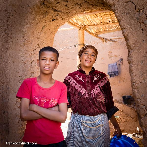 Mother and Son; Tamnougalt, Morocco