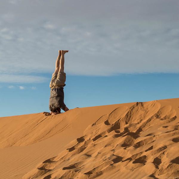 Sunrise Yoga in the Sahara