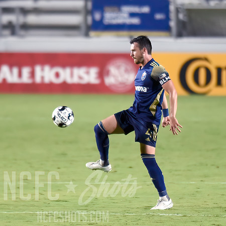 Alex Comsia,  Defender  and number 4 for North Carolina FC of the USL Championship League   Photography ©Gregory Ng for NCFCShots.com. Follow on instagram at @FollowGregSports.  This site is not affiliated with North Carolina Football Club