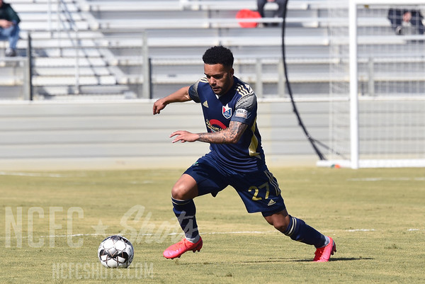 DJ Taylor,  Defender and number 27 for North Carolina FC of the USL Championship League   Photography ©Gregory Ng for NCFCShots.com. Follow on instagram at @FollowGregSports.  This site is not affiliated with North Carolina Football Club