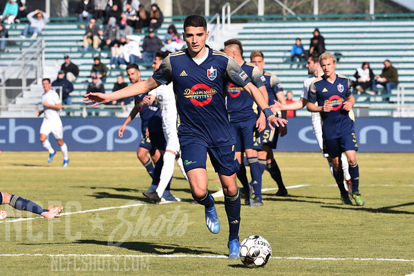 Manny Perez,  Midfielder  and number 2 for North Carolina FC of the USL Championship League   Photography ©Gregory Ng for NCFCShots.com. Follow on instagram at @FollowGregSports.  This site is not affiliated with North Carolina Football Club