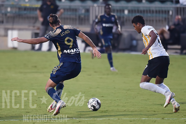 Marios Lomas,  Forward and number 9 for North Carolina FC of the USL Championship League   Photography ©Gregory Ng for NCFCShots.com. Follow on instagram at @FollowGregSports.  This site is not affiliated with North Carolina Football Club