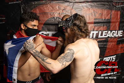 Castro Fight League MMA Weigh-in Face Off